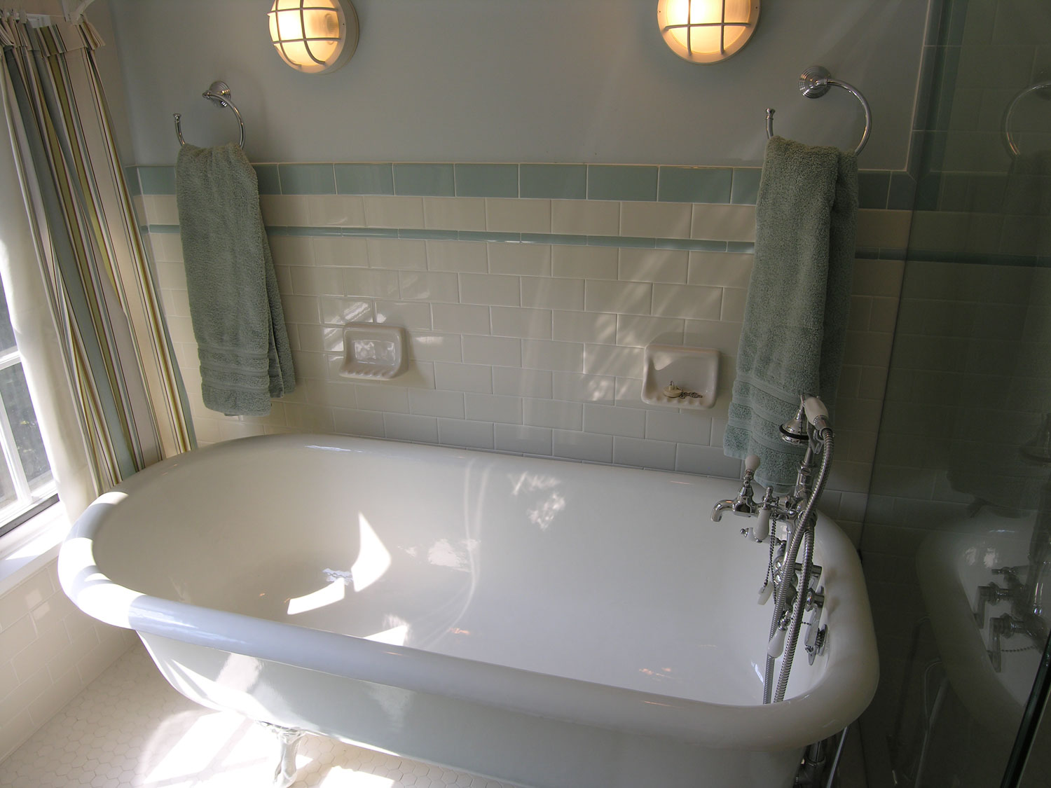 Sgs interiors historical home gets a bathroom remodel - Small bathroom remodel with tub ...